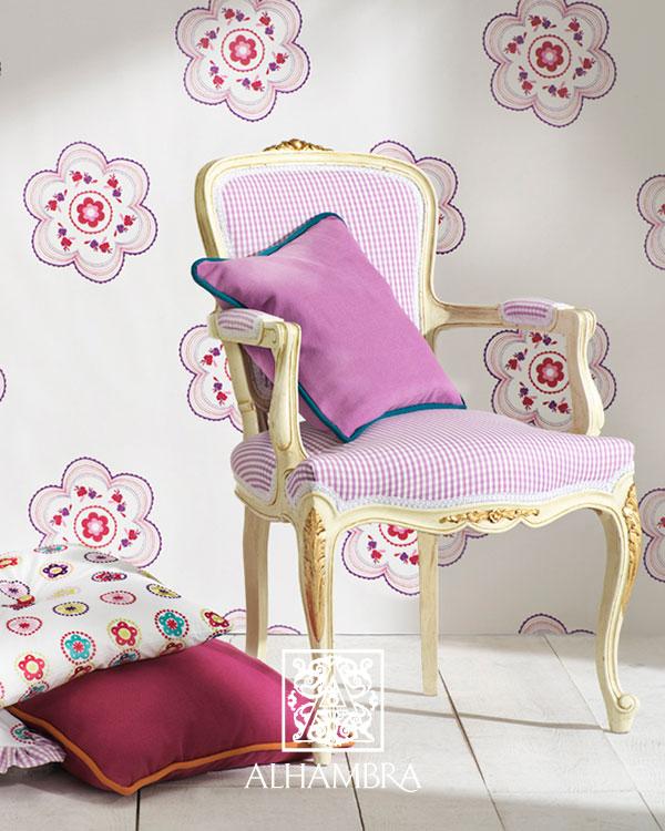 spanyol virágos gyerekszoba textil