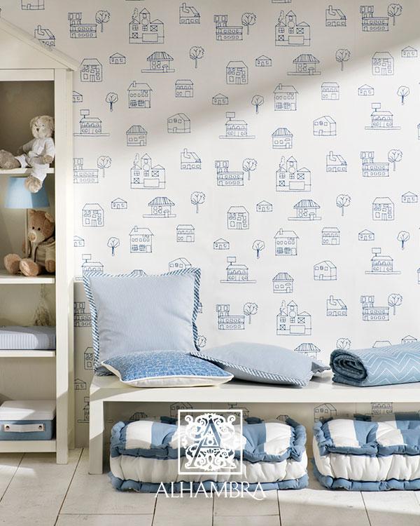Falra feszített textil gyerekszoba dekoráció