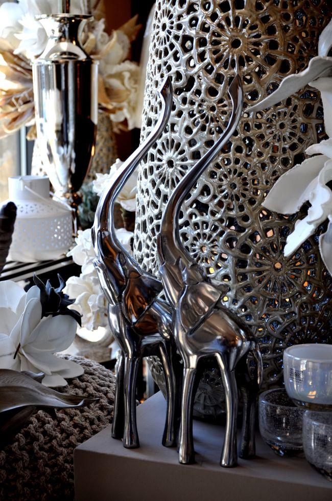 Holland elefánt dekoráció króm