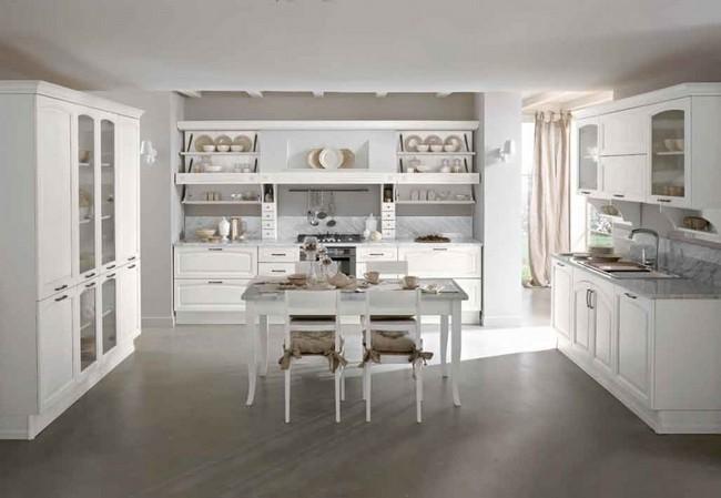 Ünnepélyes, elegáns és alkalmazkodó – a fehér konyhabútor