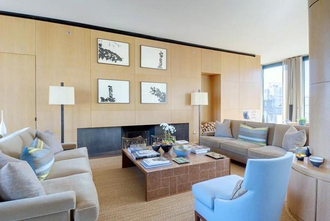 Modern amerikai nappali beépített szekrényekkel