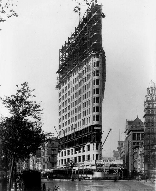 Flatiron Building építése New York 1902