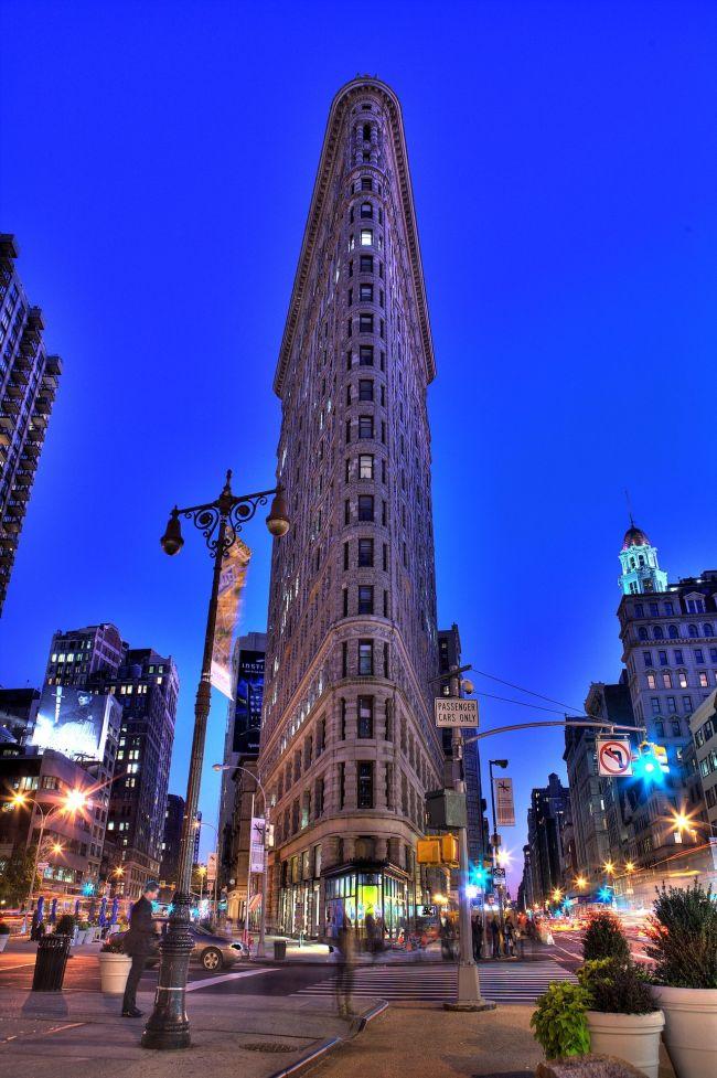 Flatiron Building New York by evening