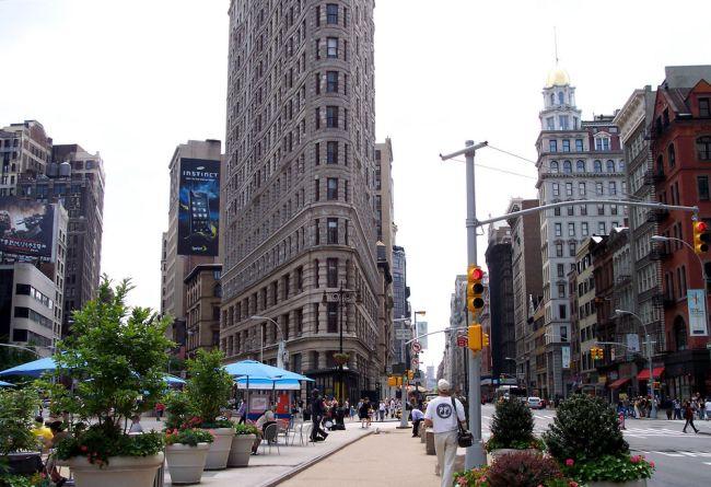 Flatiron Building New York nappal