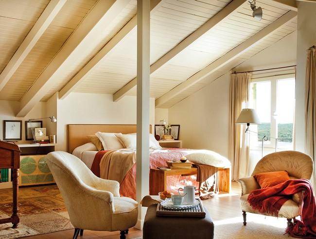 Hálószoba tetőtérben