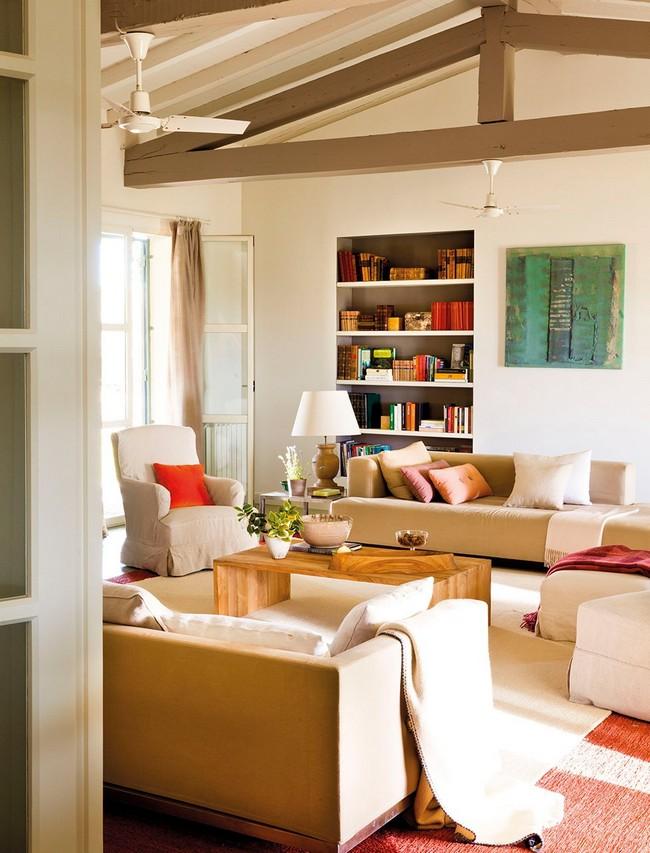Mediterrán nappali klasszikus kanapé