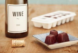 Fagyasztott vörösbor mint leveskocka