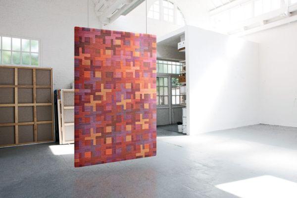 Modern mintás gyapjúszőnyeg