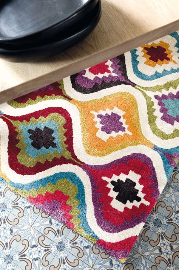 Kilim patchwork szőnyeg cementlap padlón