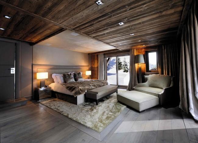 Luxus hálószoba szőrmékkel