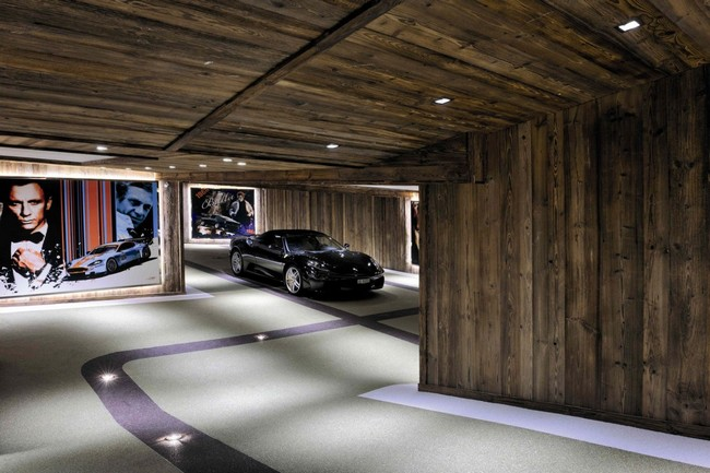 Luxus garázs sportautóval