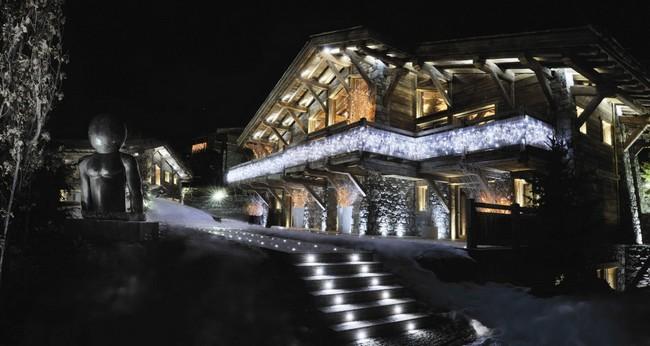 Chalet Brickell: téli nyaraló külső világítás