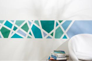 Könnyen elkészíthető festett faldekoráció