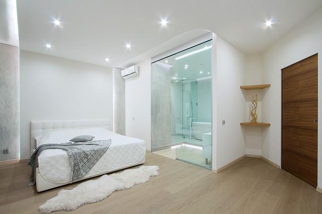 10 fürdőszoba és hálószoba amit csak egy üvegfal választ el
