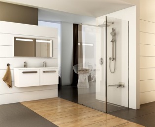 Egyre népszerűbbek a Walk-in zuhanykabinok