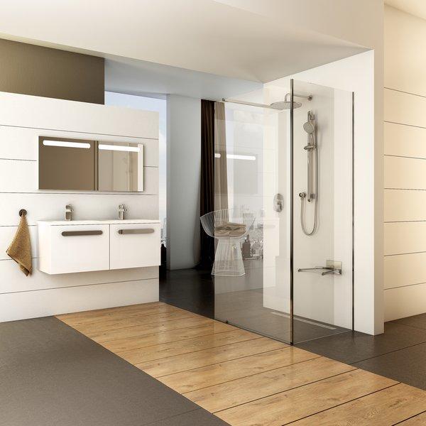Walk-In Corner zuhanykabin üvegfalakkal