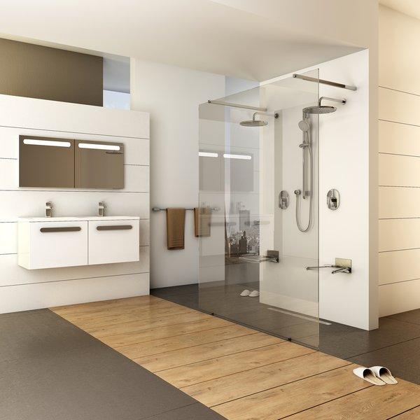 Walk-In Free zuhanykabin kétoldalról megközelíthető