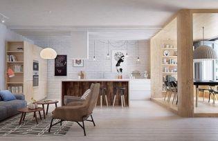 Fiatal párnak tervezett modern otthont az Int2architecture Szentpéterváron