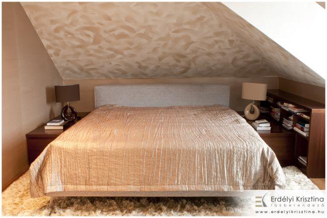 Maszatolt fal hálószoba