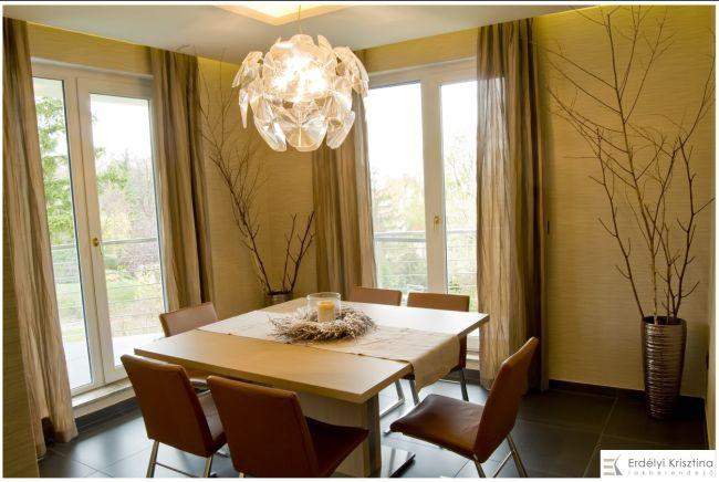 Modern étkező design lámpával