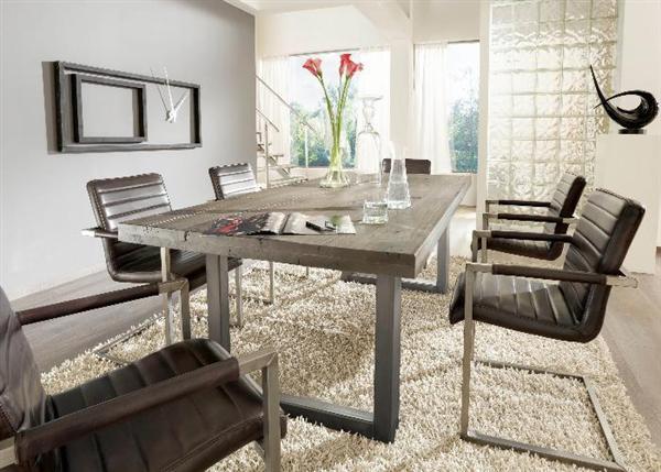 Modern szánkótalpas szék fekete és barna