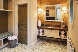 Indonéz kavicsburkolat és kőmozaik dekoráció fürdőszobákba