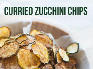 Egészséges nasi - Currys cukkini chips házilag