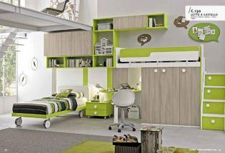 Ötletes és színes emeletes ágyas megoldások gyerekszobákhoz