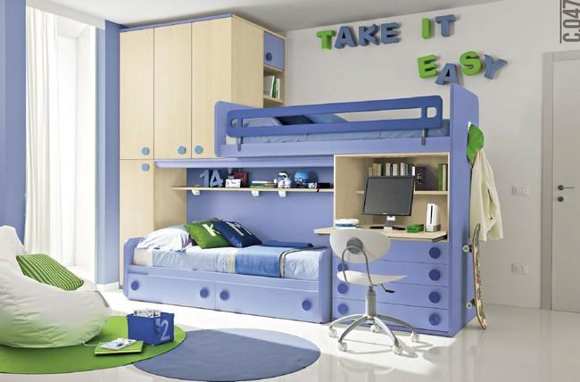 Bono Design kft. Budapest kék gyerekbútor emeletes ágy