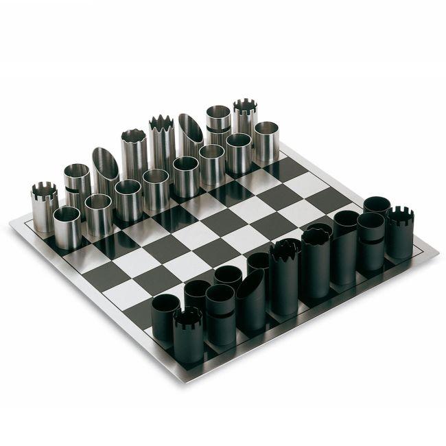 Design sakktábla fekete és ezüst