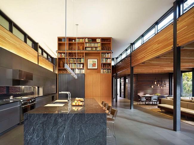 Nappali szekrény és konyhabútor egysége
