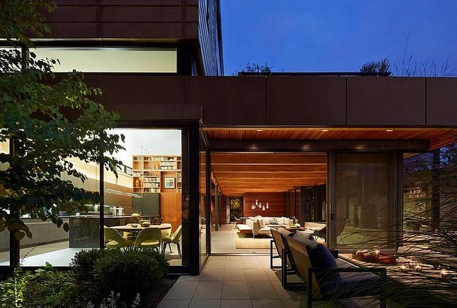 Minimalista ház és építészet belső világítás