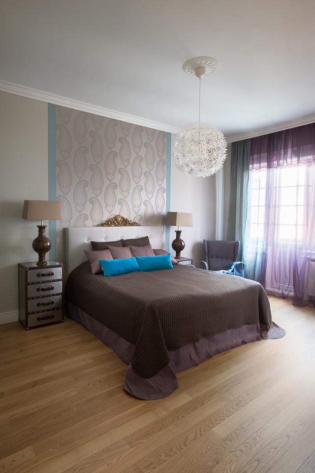 Modern hálószoba és dekortapéta