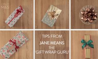 Karácsonyi ajándékcsomagolás Jane Means ötleteivel