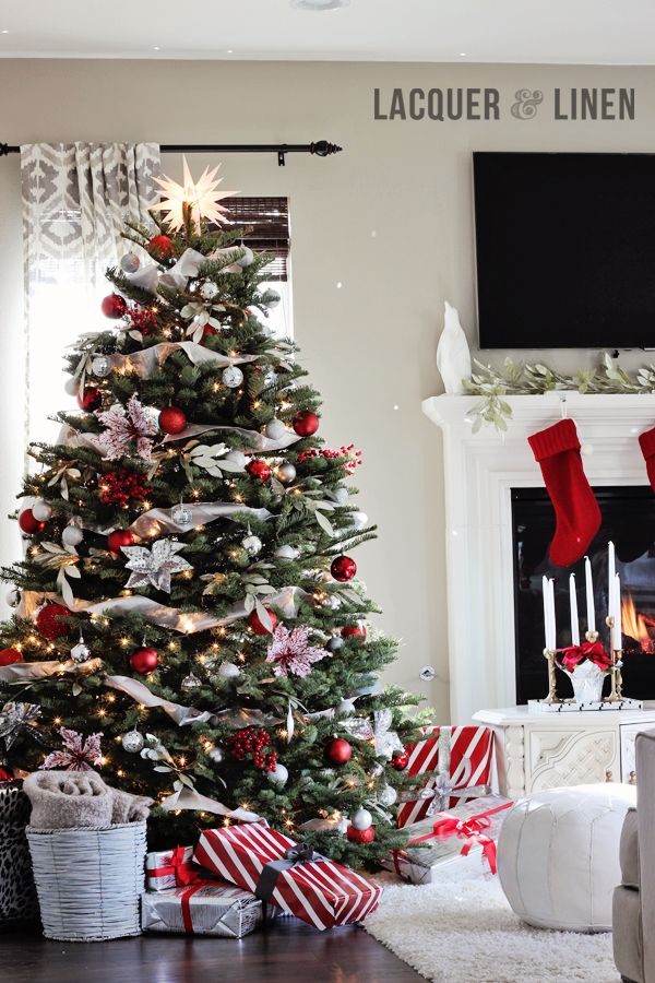 Klasszikus karácsonyfa díszítés