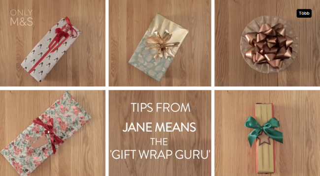 Karácsonyi ajándékcsomagolás Jane Means ötleteivel Csináld Magad