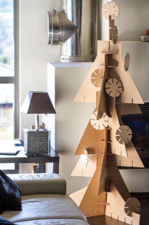 Kartonpapír karácsonyfa
