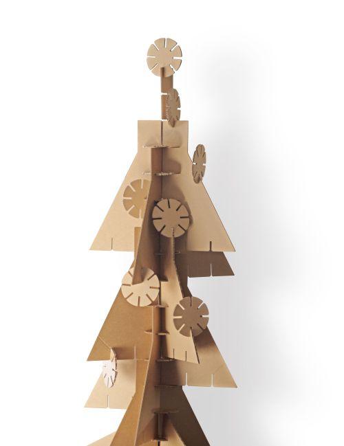 Építőelemes karácsonyfa ötlet