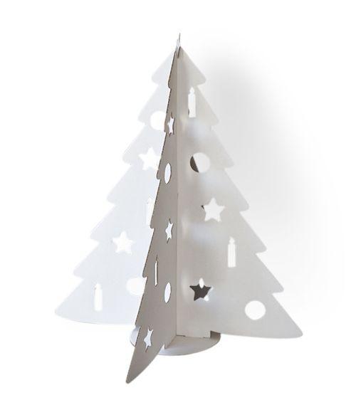 Fehér karácsonyfa fehér színű kartonpapírból