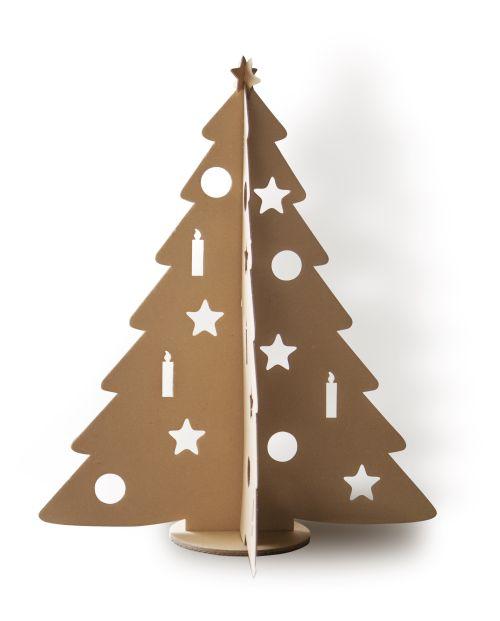 Natúr karton színű festhető karácsonyfa