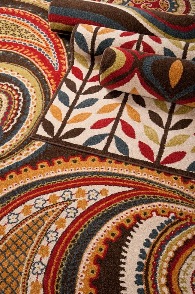 Surya szőnyeg levél és kasmir mintával