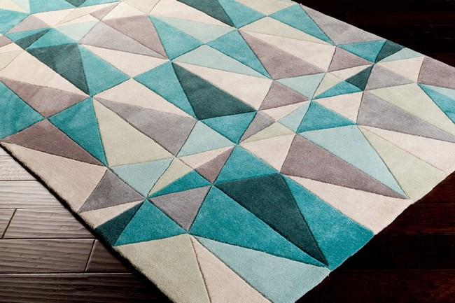 surya szőnyeg geometriai mintával