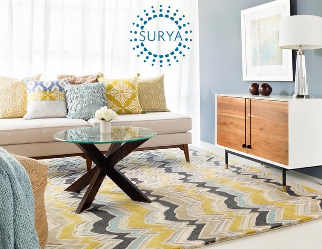 surya szőnyeg modern nappaliba