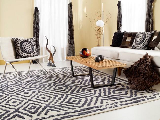 surya szőnyeg szürke és fehér színekben