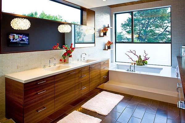 Világos, szellős fürdőszoba