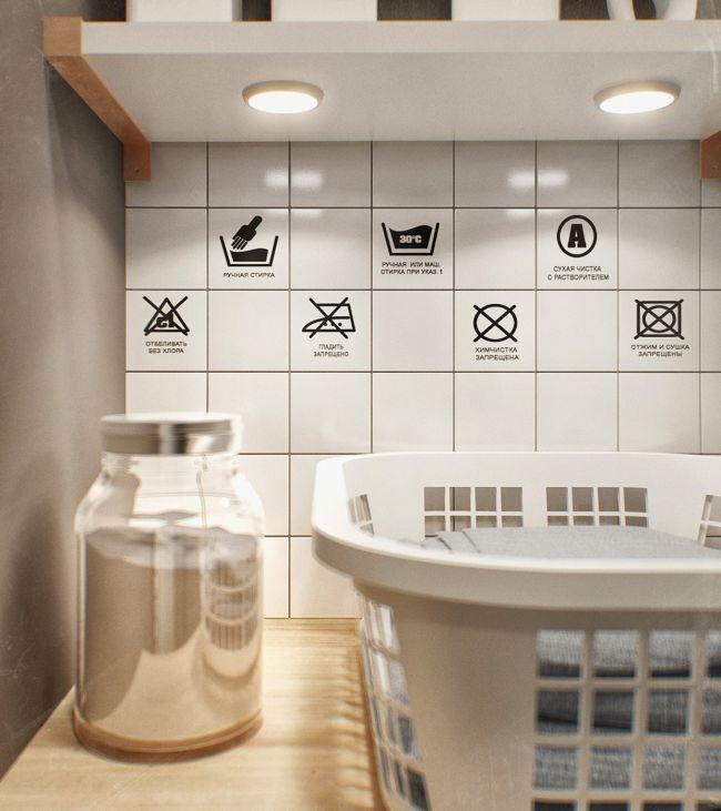 Piktogram dekoráció fürdőszobában