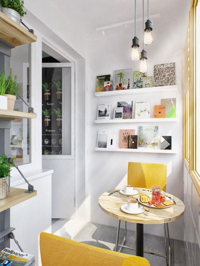 Kis terasz kerek reggelizőasztal