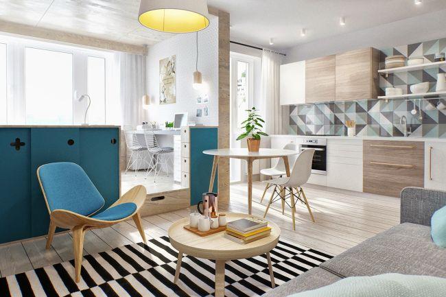 Skandináv kis lakás stúdió apartman
