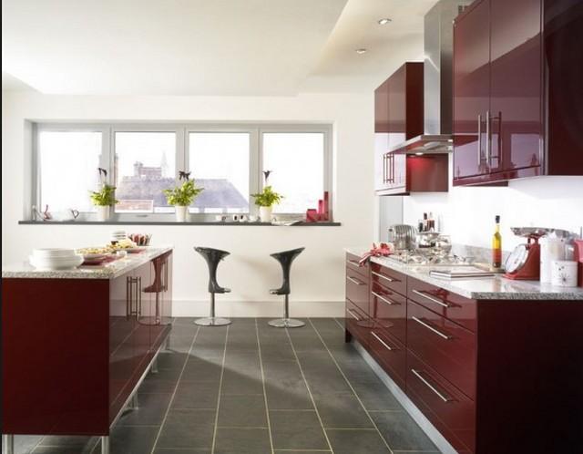 Marsala színű konyhabútor