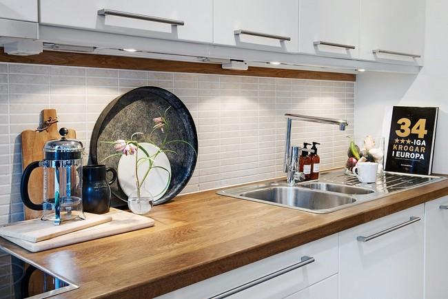 Tölgyfa hatású konyhai munkalap
